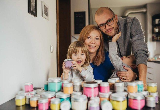 GNETKO domači plastelin naravni družina